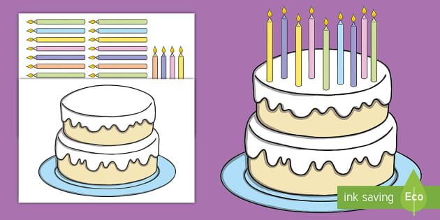 Birthday Cake And Candle Cut Outs Teacher Made