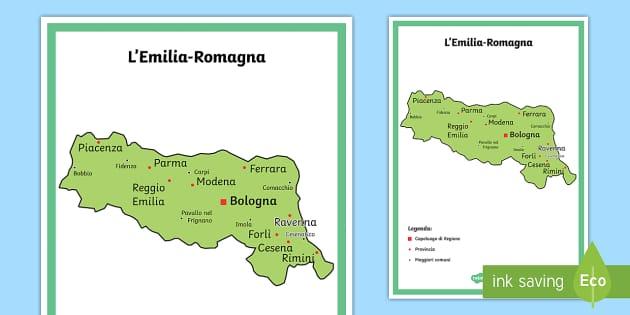 Cartina Politica Romagna.Scuola Primaria L Emilia Romagna Cartina Politica