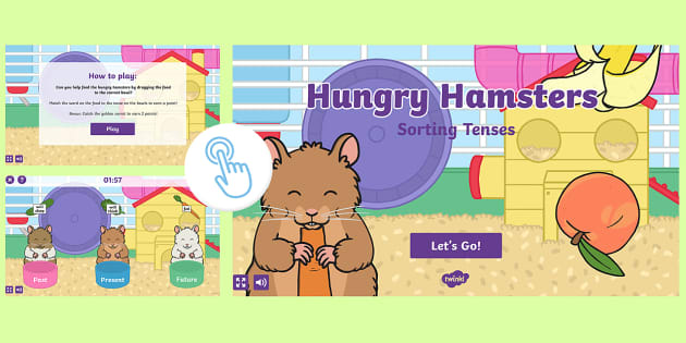 Sorting Tenses with Hungry Hamsters - Interactive Grammar Game