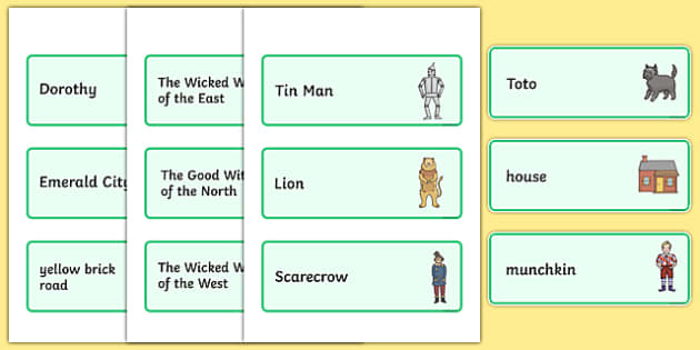 The Wizard Of Oz Writing Frames and Aids Primary