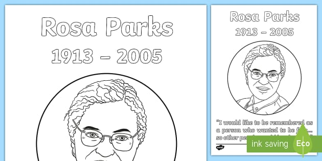 Rosa Parks Coloring Page - black history, civil rights ...
