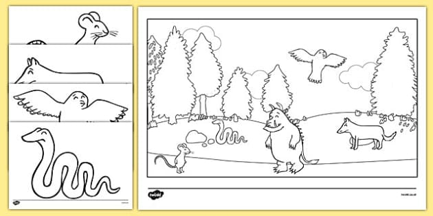 the gruffalo colouring sheets the gruffalo resources mouse - Gruffalo Colouring Pages To Print