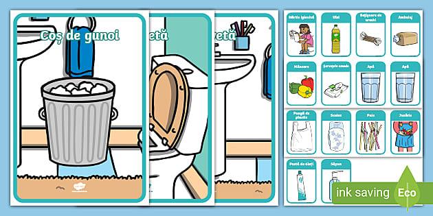 Toaletă sau coș de gunoi? – Joc de sortare
