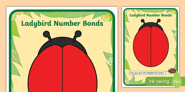 Number Bonds To Twenty Ladybird Playdough Mat Number Bonds