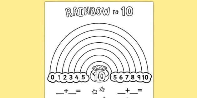 rainbow coloring pages 10 rows - photo#7