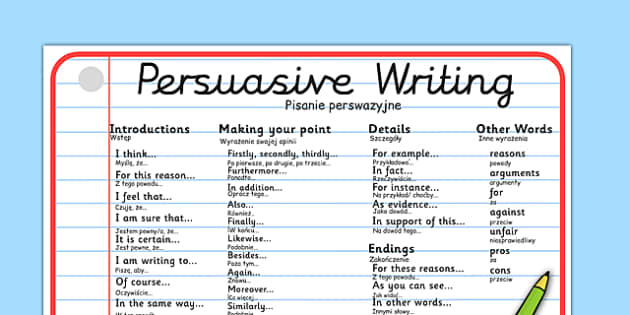 Another Word For Persuade  Letters
