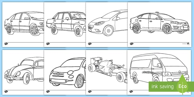 Car Colouring Pages Teacher Made