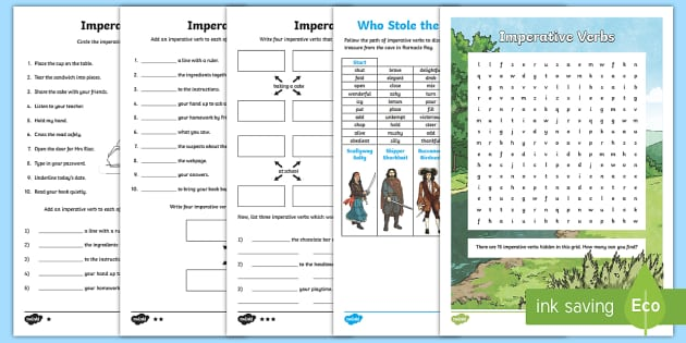 Imperative Verbs Differentiated Activity Sheets