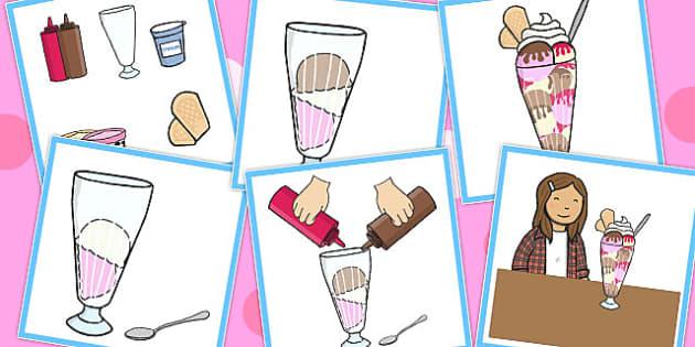 6 Step Sequencing Cards Ice Cream Sundae Sequencing Sundae
