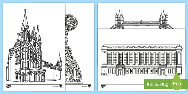 London Coloring Pages Teacher Made