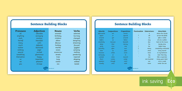 sentence building blocks word mat sentence building blocks build blocks. Black Bedroom Furniture Sets. Home Design Ideas