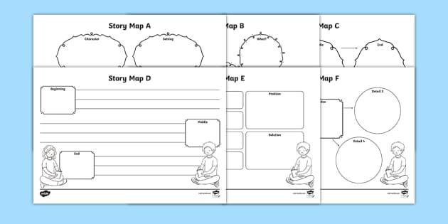 Story Map Worksheet  Activity Sheets Pack  Story Map Stories