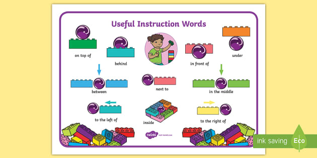 Building Bricks Useful Instruction Words Mat (teacher made)