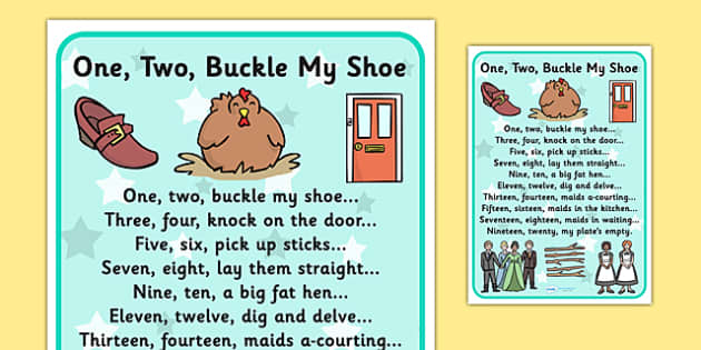 photograph relating to One Two Buckle My Shoe Printable identify A person, 2, Buckle My Shoe - Education Materials - Twinkl