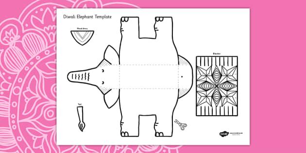 diwali elephant cutout template diwali elephant cutout cut