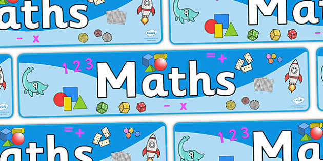 Maths Sign - Classroom Area Signs, KS1, math, Banner