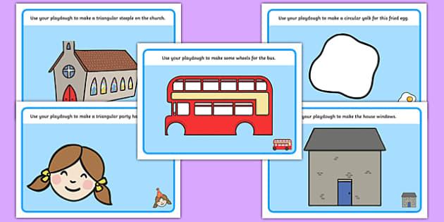 2D Shape Playdough Mats - Playdough mat, playdough ...