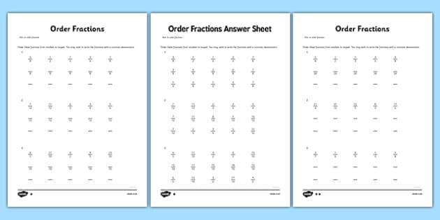 grade  order fractions worksheet  worksheet  grade  maths  grade  order fractions worksheet  worksheet  grade  maths fractions