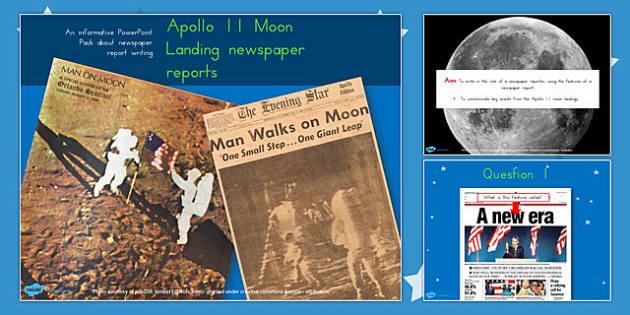 apollo 11 moon landing newspaper reports task powerpoint