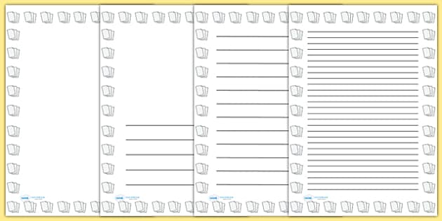 Lined Paper Portrait Page Borders  Lined Paper To Write On