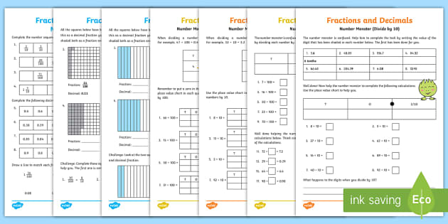 year 4 fractions tenths and hundredths with adult support and. Black Bedroom Furniture Sets. Home Design Ideas
