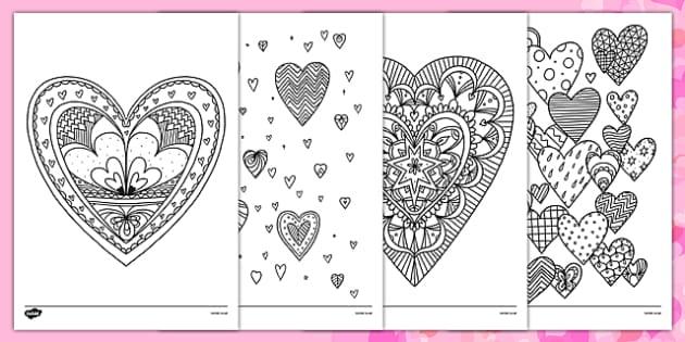 Heart Mindfulness Colouring Sheets Heart Mindfulness