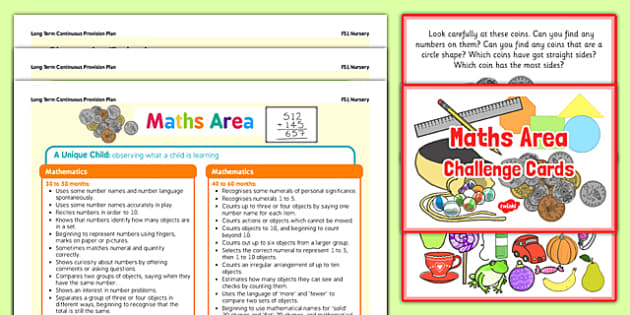 Maths Area Continuous Provision Poster And Challenge Cards