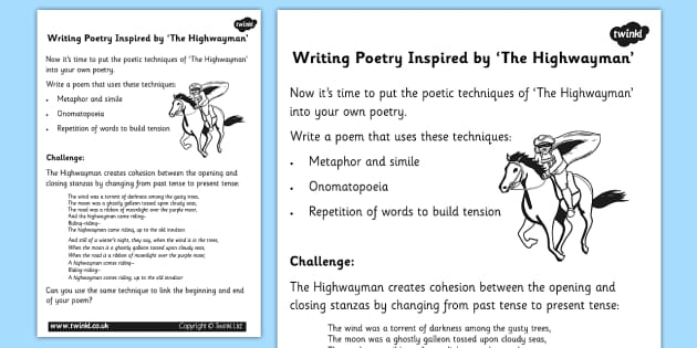 The Highwayman Poem PowerPoint - English Resource - Twinkl