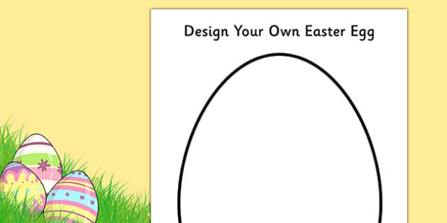 Design An Easter Egg A4 Worksheet Activity Sheet Design