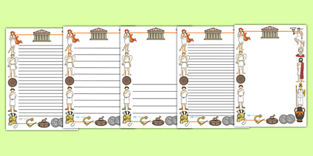 Ancient greece page borders ancient greeks history greeks for Roman menu template