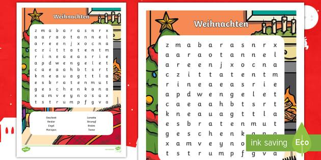 Weihnachten Buchstabengitter - Weihnachten, Feiertage, Advent