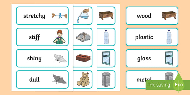 year 1 everyday materials scientific vocabulary cards science. Black Bedroom Furniture Sets. Home Design Ideas
