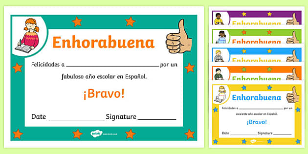 Spanish award certificate spanish award certificate spanish spanish end of year good year award certificate spanish espaol yadclub Images