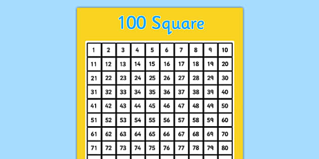 Vibrant image inside 100 square grid printable