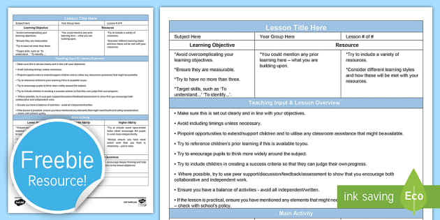 142 Top Lesson Plan Template Teaching Resources