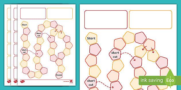 Free Blank Board Game Layout Template F 2 Australia