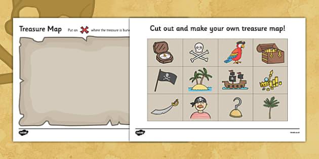 Free Worksheets map of scotland worksheet : Treasure Map Design Activity - Worksheets, Pirate, Pirates