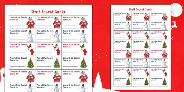 Staff Wellbeing Secret Santa Christmas Planner