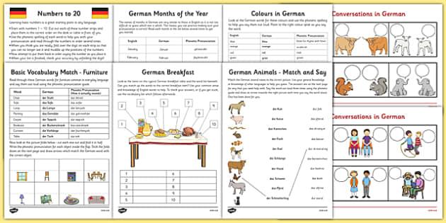 learn german worksheet starter pack german learn german worksheet. Black Bedroom Furniture Sets. Home Design Ideas