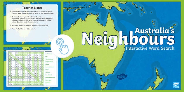 Australias Neighbours Interactive Word Search ACHASSK067