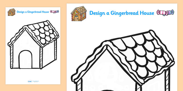 blank gingerbread house template  FREE! - Design Your Own Gingerbread House
