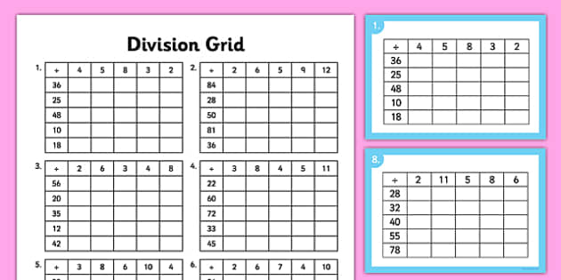 Multiplication and division worksheets for year 1