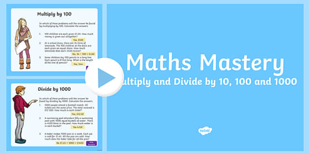 English In Italian: Year 5, Multiplication And Division, Multiply And Divide By 10