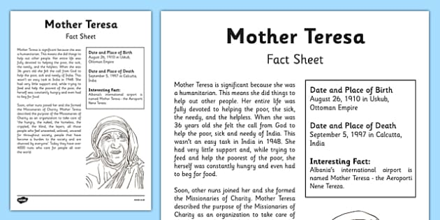 why is mother teresa significant individual