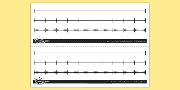 editable blank number lines - maths resource