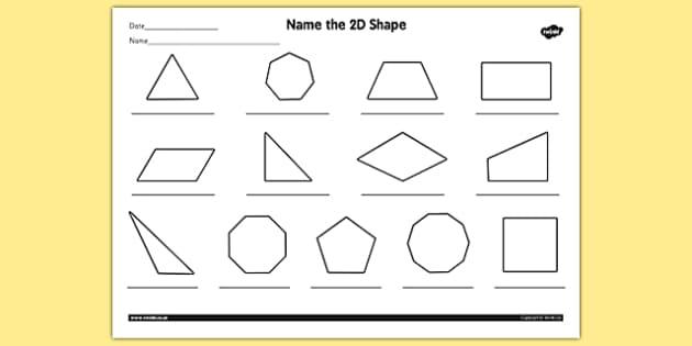 name the 2d shape year 4 worksheet worksheet 2d shape year. Black Bedroom Furniture Sets. Home Design Ideas