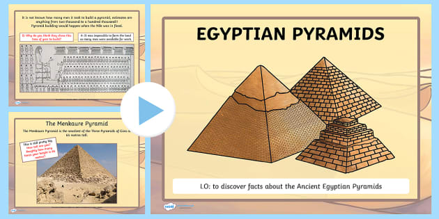 ancient egyptian pyramids lesson powerpoint