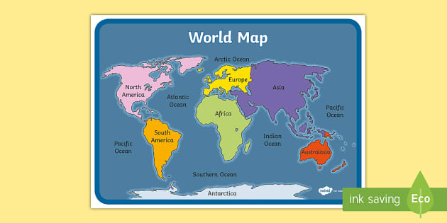 Map of the World with the Equator and Tropics - Twinkl