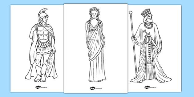 Ancient Greek Figures Colouring Pages Ancient Greek Figures