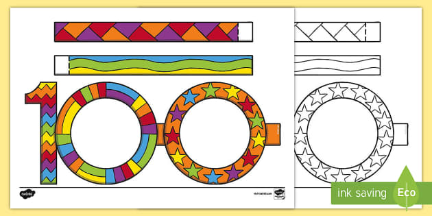 100 Days of School '100 Glasses' Template - 100 Days of ...